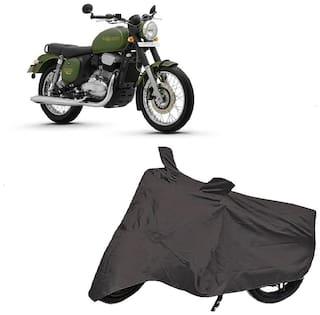 Bigwheels Premium Quality Grey Matty Two Wheeler Bike Body Cover For Jawa Forty Two 42 With Mirror Pockets