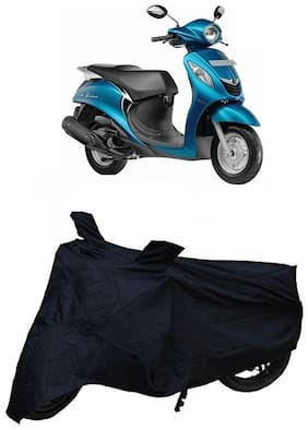 Bigwheels Premium Quality Black Matty Two Wheeler Bike Body Cover For Yamaha Fascino