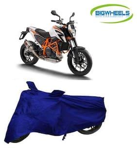 BigWheels Premium Quality Royal Blue Color Blue Matty Bike Body Cover For KTM Duke