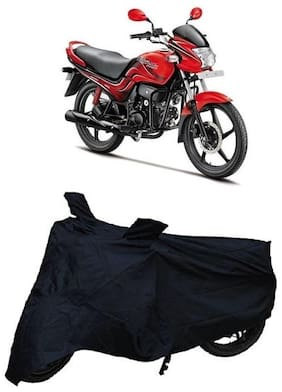 Bigwheels Premium Quality Black Matty Two Wheeler Bike Body Cover For Hero Passion Pro