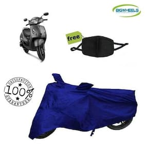 BigWheels Premium Quality Royal Blue Color Blue Matty Scooty Body Cover For TVS Jupiter With Free Anti Dust / Pollution Protective Face Mask Mouth & Nose Respirator For Boys & Girls
