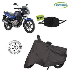 Bigwheels Premium Quality Grey Matty Bike Body Cover For Bajaj pulsar 150 With Free Anti Dust / Pollution Protective Face Mask Mouth & Nose Respirator For Boys & Girls