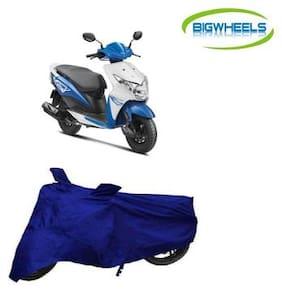 BigWheels Premium Quality Royal Blue Color Blue Matty Scooty Body Cover For Honda Dio