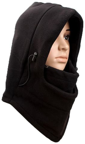Bigwheels UV Sun Rays Protection Winter Woolen Thick Fleece Fur Hat Neck Warm Double Layer Thermal Fully Hood Balaclava Face Mask/Cap Covers Mouth, Head & Nose For Men & Women Air-Purifying Respirator