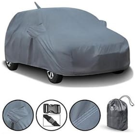 Bigzoom Antenna Mirror Pocket and Water Resistant Grey CAR Body Cover for Eon