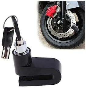 Bigzoom Anti Theft Disc Brack Security Lock for All Bikes and Scooter (Multicolour) For  TVS Scooty Zest 110