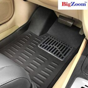 Bigzoom New Collection Of 4D Car Floor Mats For  Maruti Swift Dzire-Black