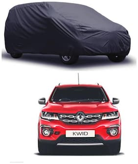 Bigzoom Premium Quality 95% water resistant Grey car cover for Kwid