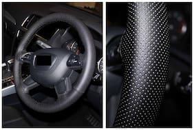 BIGZOOM Premium Quality Leathride Car Steering Wheel Cover For TATA INDIGO