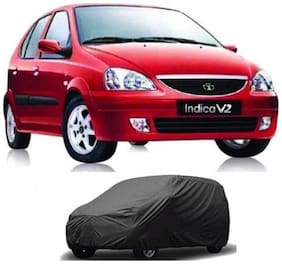 Bigzoom Premium Quality 95% water resistant Grey car cover for Indica V2