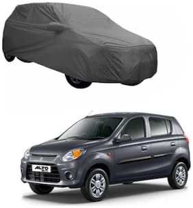 Bigzoom Premium Quality 95% water resistant Grey With Mirror Pockets For car cover for Alto 800