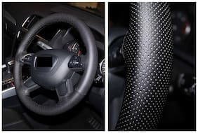 BIGZOOM Premium Quality Leathride Car Steering Wheel Cover For Mahindra Bolero SLX