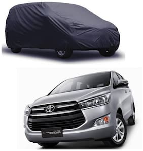 Bigzoom Premium Quality 95% water resistant Grey car cover for Innova Crysta