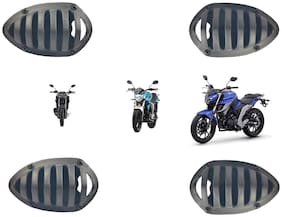 Bigzoom Present PVC Material Indicator Grill Set for Yamaha FZ/FZS/FZ-FI/FZ-16 (Set of 4 Pcs)