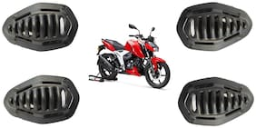 Bigzoom Presents PVC Material Indicator Cover Protective Grills For TVS Apache RTR 160/180/200 New Model 2020 (Set Of 4pcs)