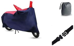Bigzoom Sporty Red Blue Bike cover For Royal Enfield Thunderbird Storm With bag