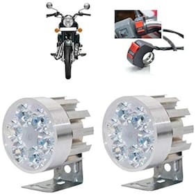 Bigzoom Stylish Round 6 led Motorcycle Light Bike Fog Lamp Set of 2 Pices for Royal Enfield Bullet Electra