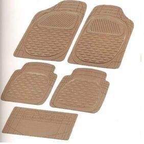Bigzoom Stylish Car Floor Mats Set Of 5 (Beige) For Etios Cross