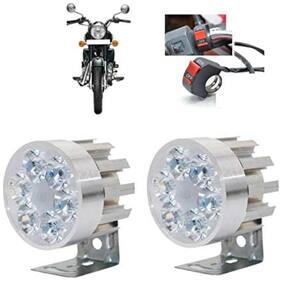 Bigzoom Stylish Round 6 led Motorcycle Light Bike Fog Lamp Set of 2 Pices for Honda Activa 3G