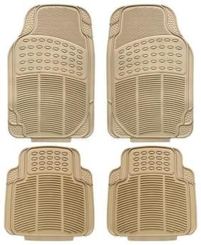 Bigzoom Stylish Car Floor Mats Set Of 4 (Beige) For SX4