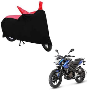 ABS AUTO TREND Bike Body Cover For Bajaj Pulsar Ns 200 ( Black, Red )