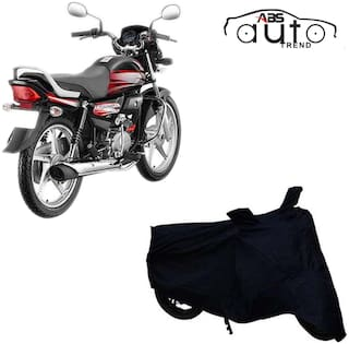 ABS AUTO TREND Bike Body Cover For  Hero Hf Deluxe ( Black )