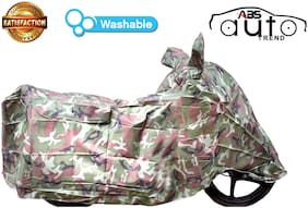 ABS AUTO TREND Jungle Print Bike Body Cover For  Royal Enfield Bullet 350 ( Green )