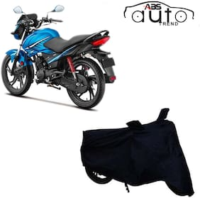 ABS AUTO TREND Bike Body Cover For  Hero Glamour ( Black )