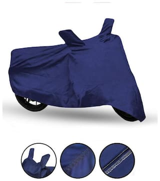 Fabtec Bike Body Cover For Hero Splendor Plus Blue Bike Cover