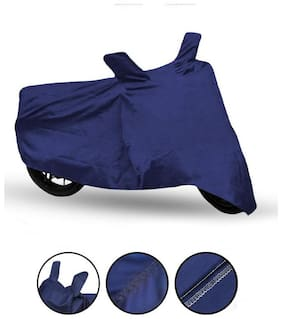 Fabtec Bike Body Cover For Hero Hf Delux Blue Bike Cover