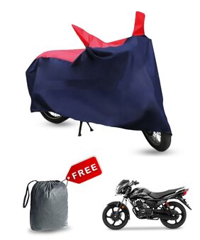 Bike Body Cover For Tvs Victor New Bike Cover With Free Bage (Red & Blue)