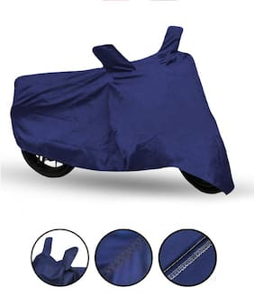 Fabtec Bike Body Cover For Hero Splendor I-Smart Bike Cover ( Blue)
