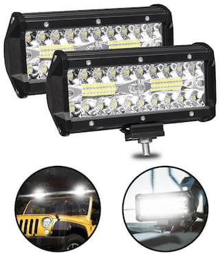 Bike LED Light Super Bright Spot Beam Fog Light For Cars & Bikes 40 LEDs 30 WATT (Set of 2)