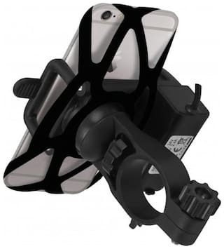 Bike Mobile Holder with Charger for Mahindra Bikes (1 yr warranty)