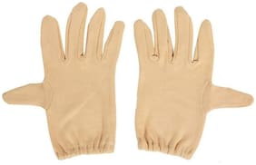 Bike Riding Protective Cotton Gloves  for Men and Women Pack of 1 in BEIGE COLOR