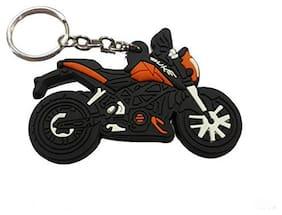 BIRDWARE Single Sided DUKE Bike Car & Bike Collaction Rubber Keychain for Car Bike Men Women Keyring