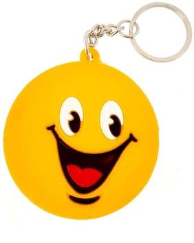 BIRDWARE Single Sided Smiley Smiley Emoji Rubber Keychain for Car Bike Men Women Keyring
