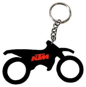 BIRDWARE Single Sided KTM Bike Car & Bike Collaction Rubber Keychain for Car Bike Men Women Keyring
