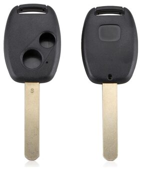 Black 2 Buttons Replacement Key Case Shell Keyless Remote Fob Uncut Blade Fix Master for Honda