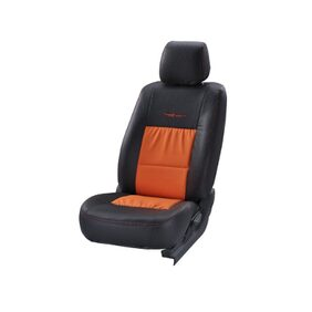 Black And Orange Trend Neo Gladiator Duo Art Leather Seat Cover For Ford EcoSport From Stallion By Elegant