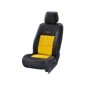 Black And Yellow Trend Neo Gladiator Duo Art Leather Seat Cover For Toyota Etios (2010-2012) From Stallion By Elegant