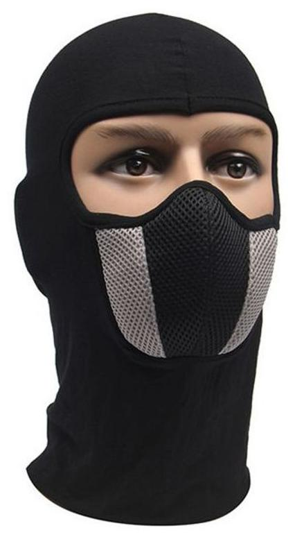 7f1d01a8852 Buy Black Bike Full Face Mask For Men s   Women s   Sun Protection Face Mask  Online at Low Prices in India - Paytmmall.com
