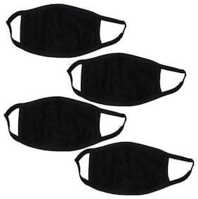 Newnovo Black Bike Face Mask for Men & Women (Pack of 4)