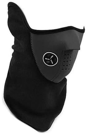 Black Bike Face Mask for Men & Women (1Pc)