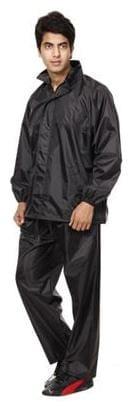 Black rain coat by wadhwacreations with free pant
