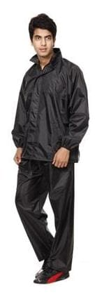 Black rain coat by wadhwacreations with free pant