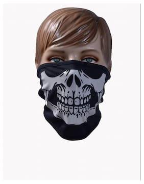 Black skull face mask 1pcs