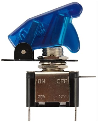 Blue Toggle Switch with Aircraft Safety Cover for all Vehicles