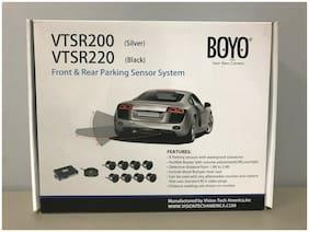 BOYO VTSR220 Universal Front/Rear Parking Sensor System 8 Black Parking Sensors