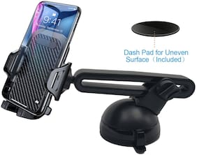 BROLAVIYA Car Windshield Dashboard Mobile Cell Phone Holder with Extra Gel Pad